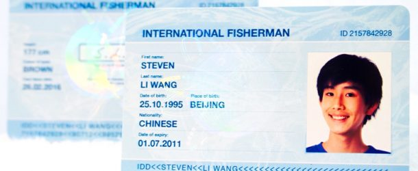 Image showing a fisherman license