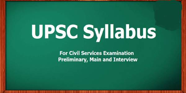 Image Represents The UPSC Syllabus in Green Background.