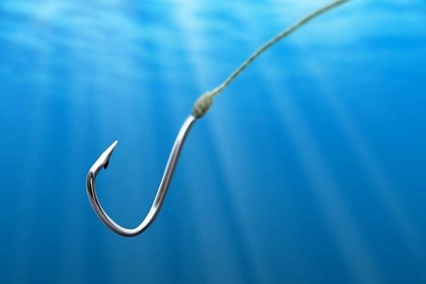 Fishing Hook In The Sea.