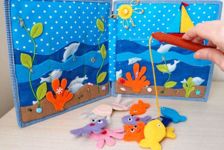 Set Of Fishing Gear Kit For Children To Play.
